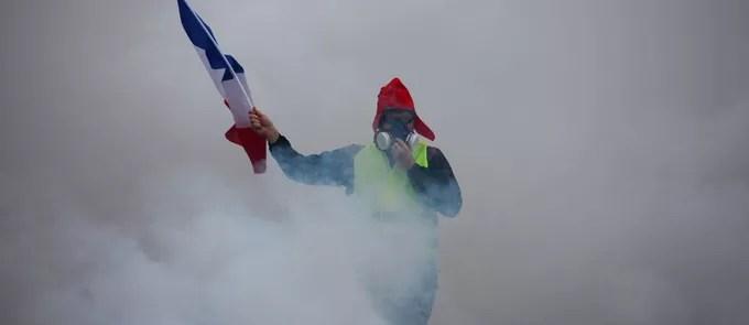 Lors de la manifestation du 1er décembre, à Paris.