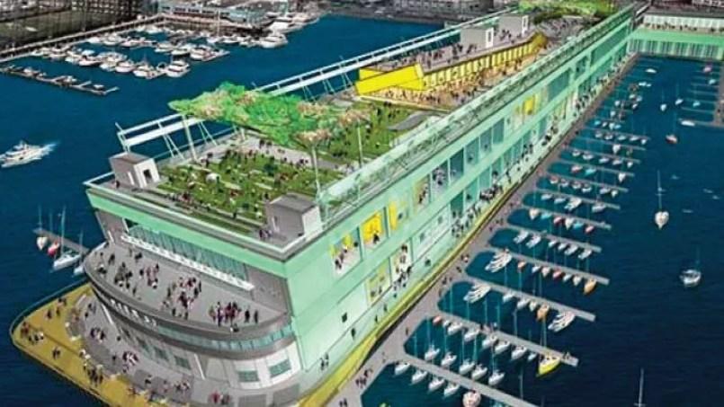 Ce complexe de 240.000 mètres carrés accueillera des boutiques, des restaurants, un club d'escalade, des bureaux et des espaces verts.