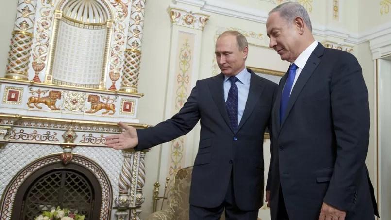 Vladimir Poutine et Benjamin Netanyahu, le 21 septembre 2015, à Moscou.