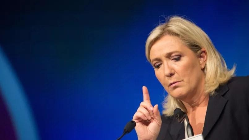 La présidente du FN Marine Le Pen.