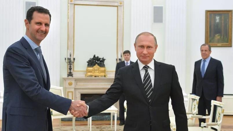 Bachar el-Assad et Vladimir Poutine à Moscou le 28 octobre 2015