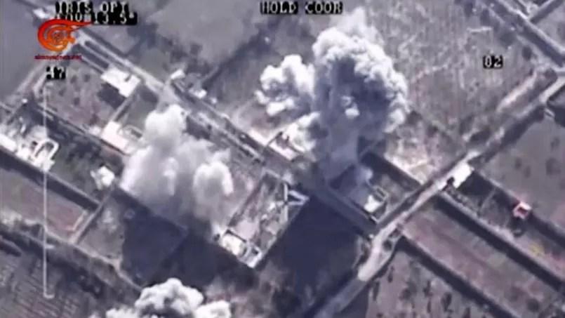 Les images des bombardements qui visaient Zahrane Allouche.
