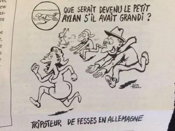 Le dessin de Riss, alias Laurent Sourisseau, publié dans le dernier Charlie Hebdo, fait polémique.