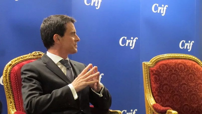 Manuel Valls devant les Amis du Crif, le 19 janvier 2016.