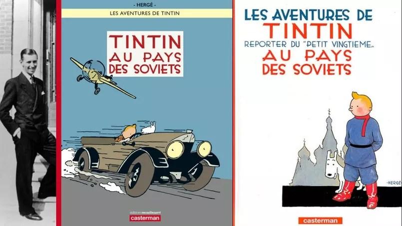 Bìa mới và bìa cũ của Tintin đến Xô Viết
