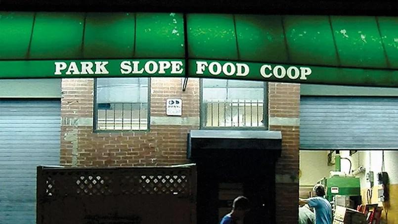 L'entrée de la Park Slope Food Coop.