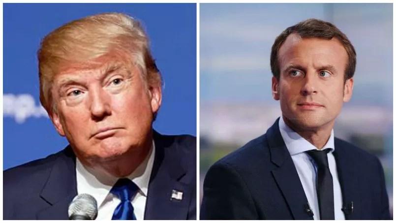 """Résultat de recherche d'images pour """"photos de Trump et Macron"""""""