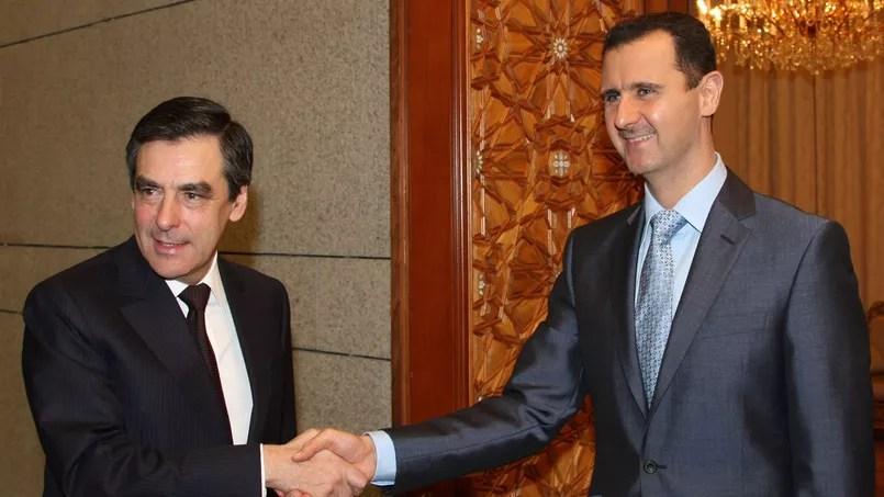 François Fillon et Bachar el-Assad, à Damas, en 2010.