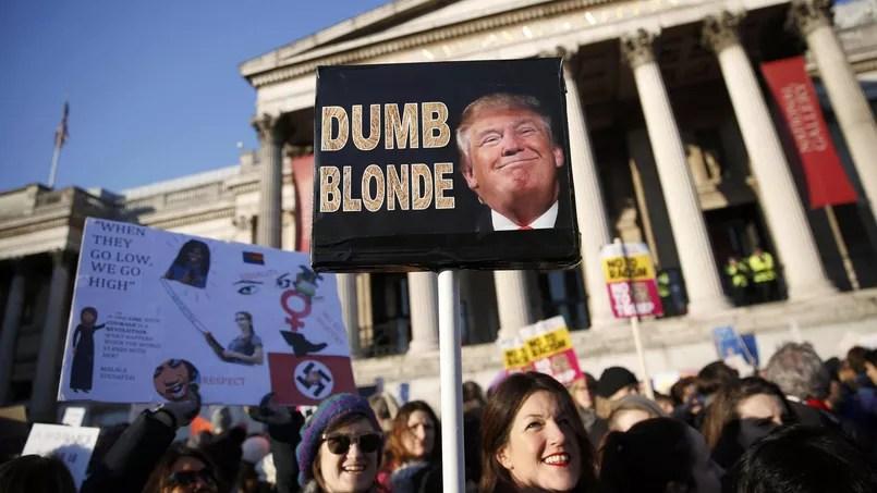 Le 21 janvier, des milliers de Britanniques avaient manifesté, comme ici à Trafalgar Square, contre Donald Trump, à l'occasion de la Women's March.