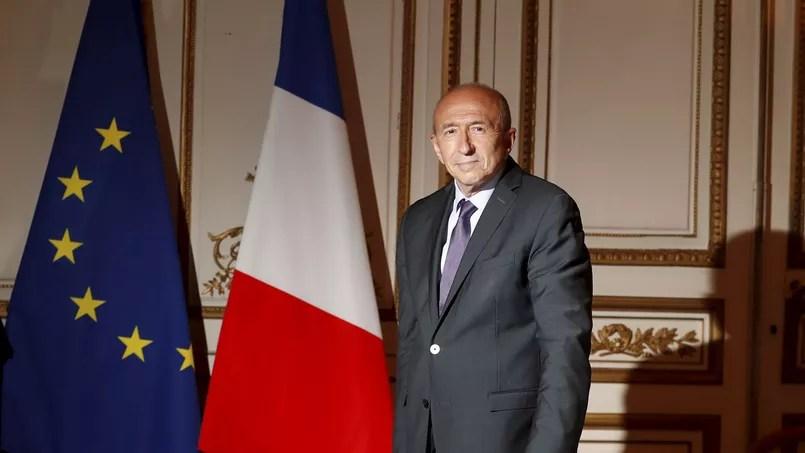 Gérard Collomb, dans son bureau.