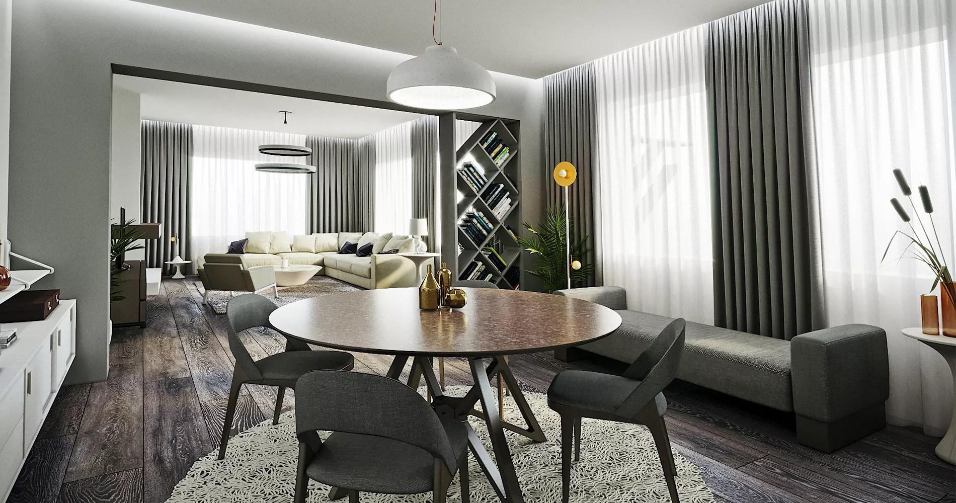 deux espaces de vie dans un salon