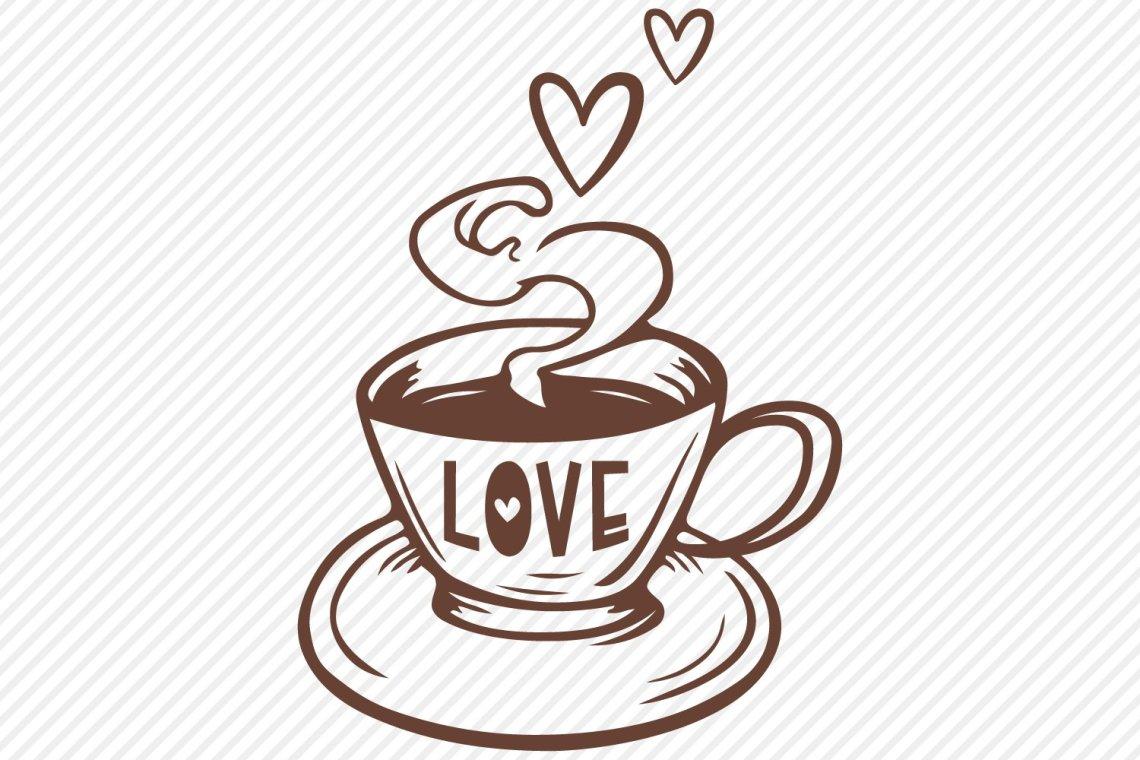 Download Love Coffee SVG, Cut File, Coffee Shirt Design (567149 ...