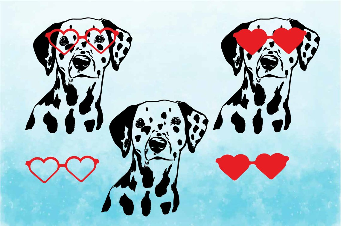 Download Dalmatian Heart Shaped Glasses SVG Firefighter love 1780s ...