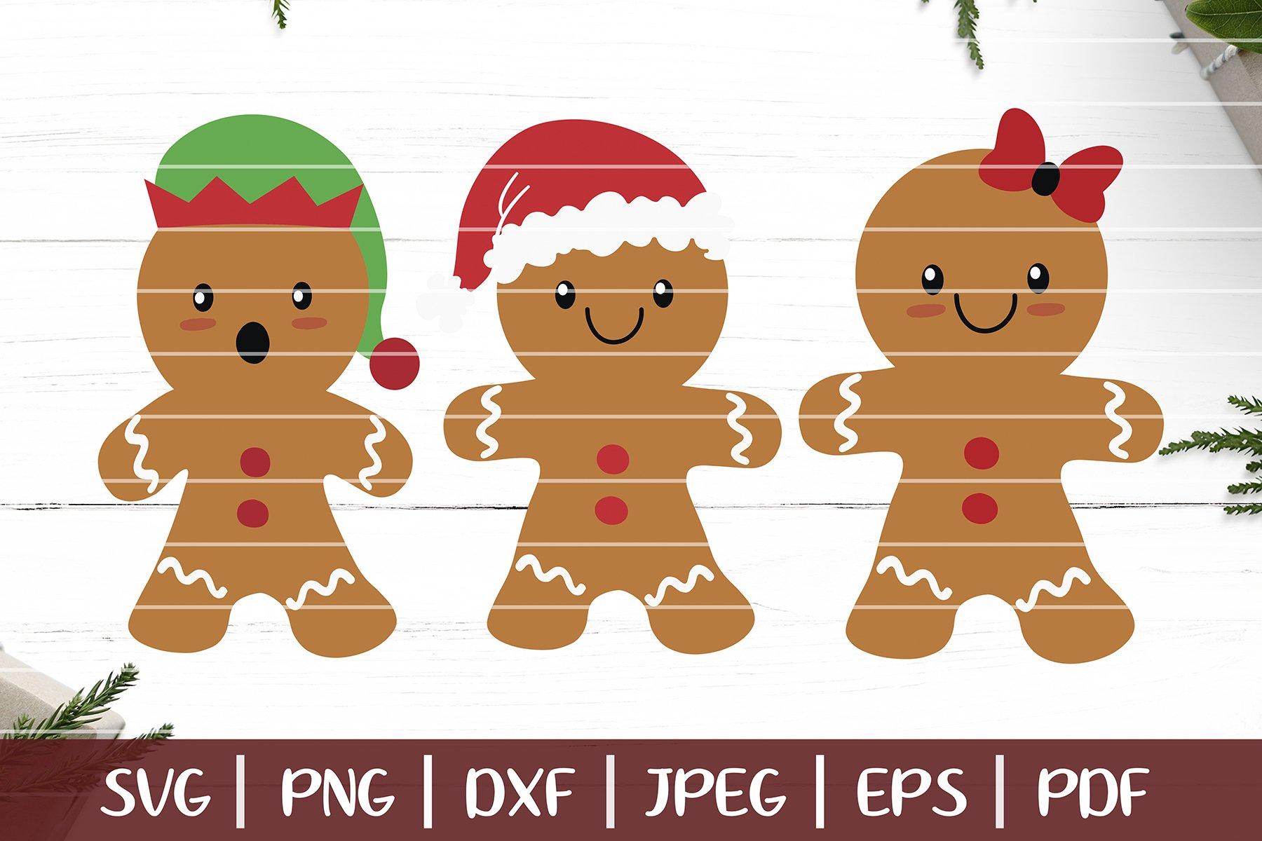 Gingerbread Svg Christmas Gingerbread Man Cut Files