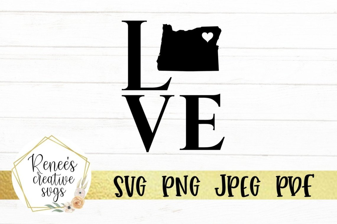 Download Oregon love with heart | State SVG | SVG Cutting file ...