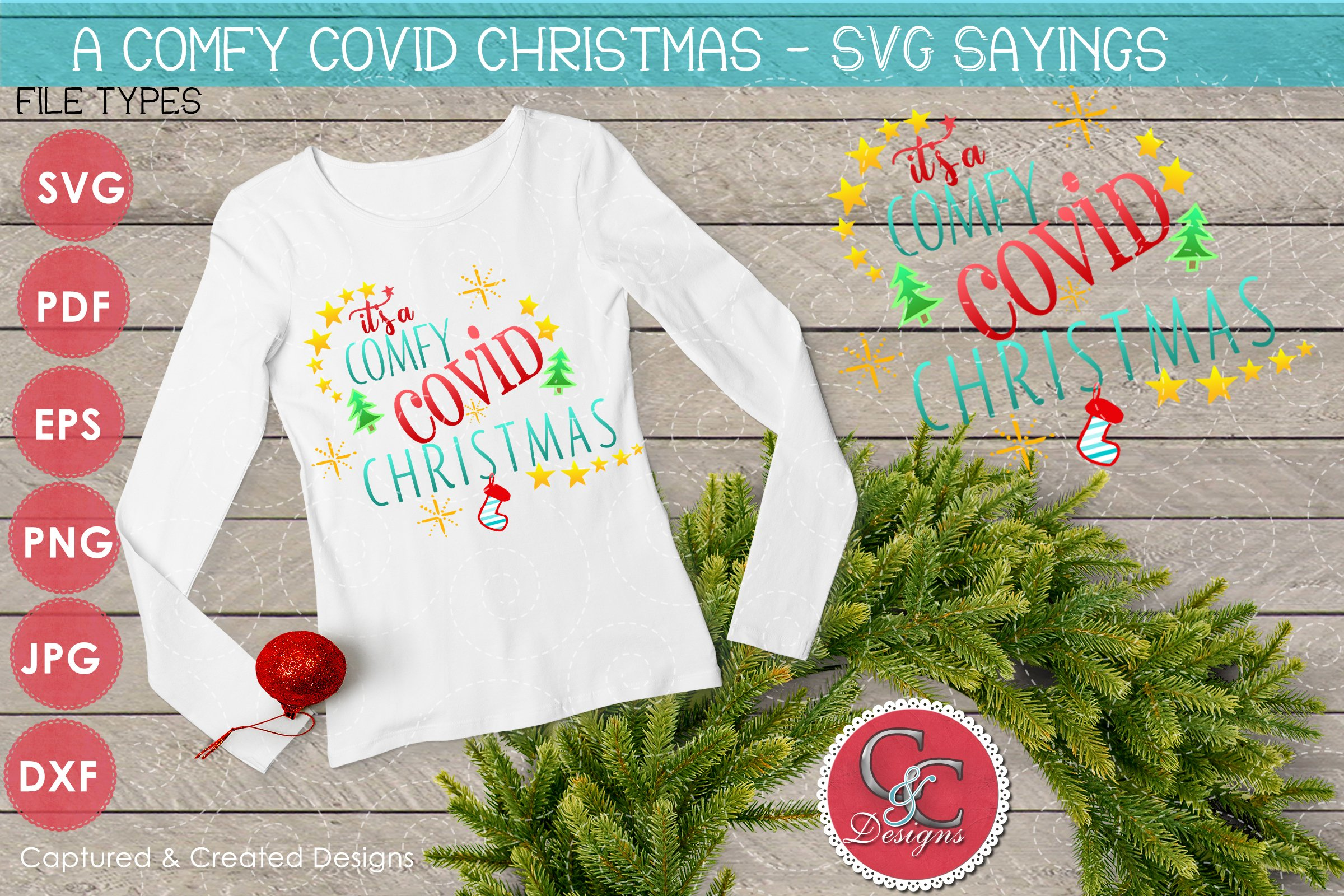 Free quarantine queen svg, covid 19, corona. Svg Christmas Sayings It S A Comfy Covid Christmas 847683 Cut Files Design Bundles