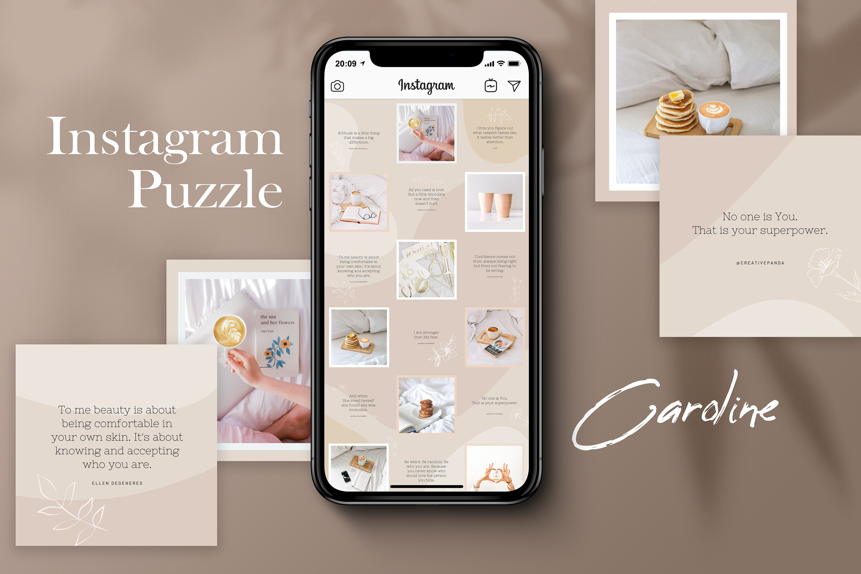 Instagram Puzze Template. Canva. Bloggers Instagram Grid (554066)   Instagram   Design Bundles