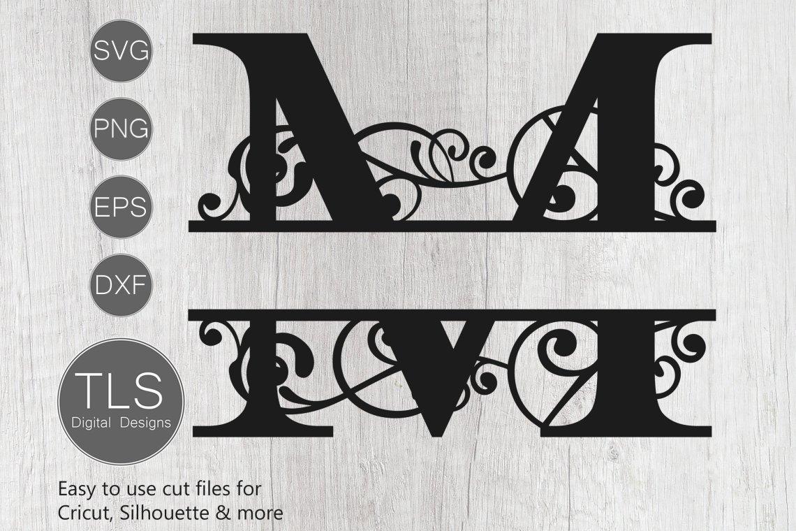 Download Split Monogram Letter M SVG, Letter M Monogram SVG, Letter ...