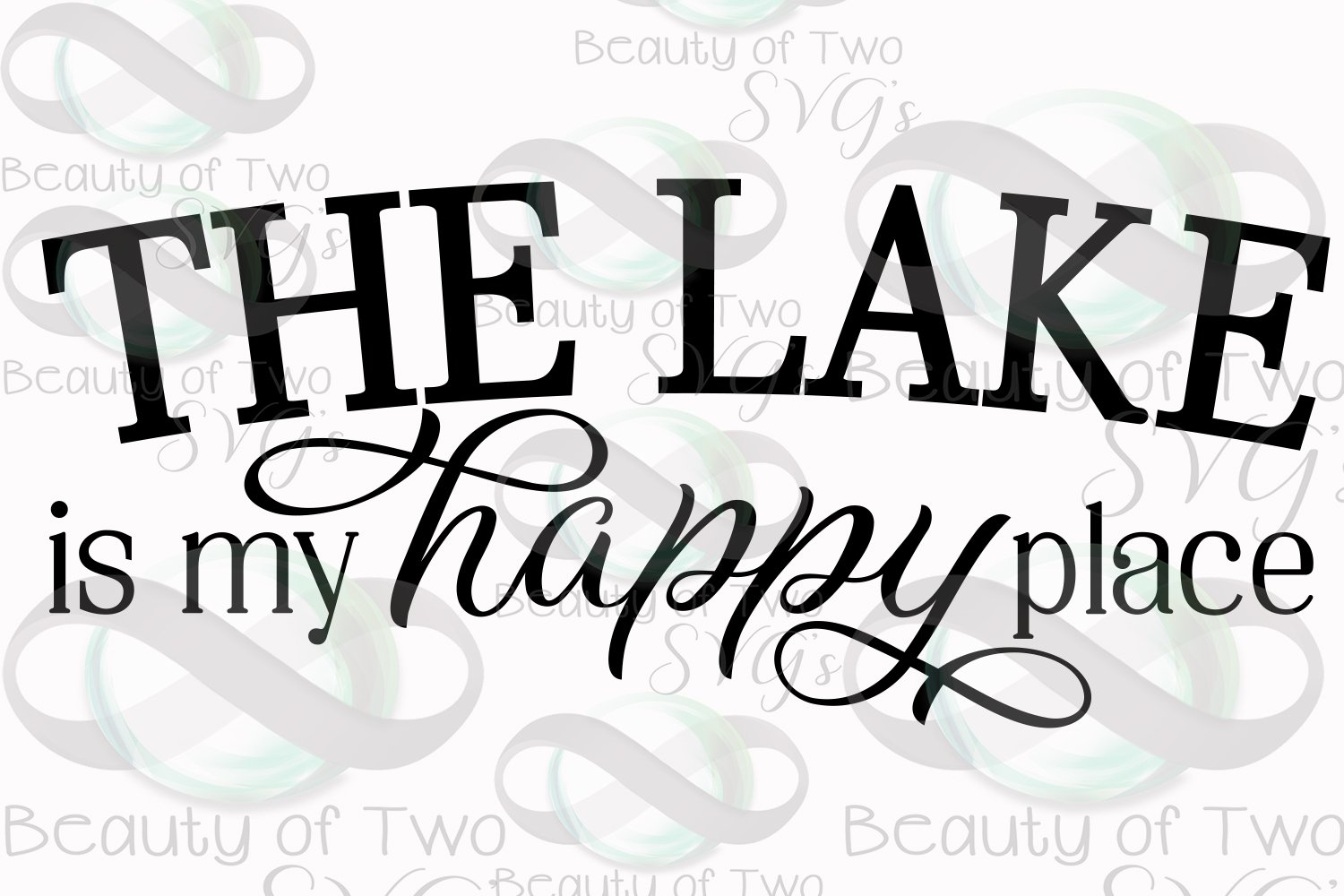 Lake is my Happy Place svg, Lake House sign svg, Lake life
