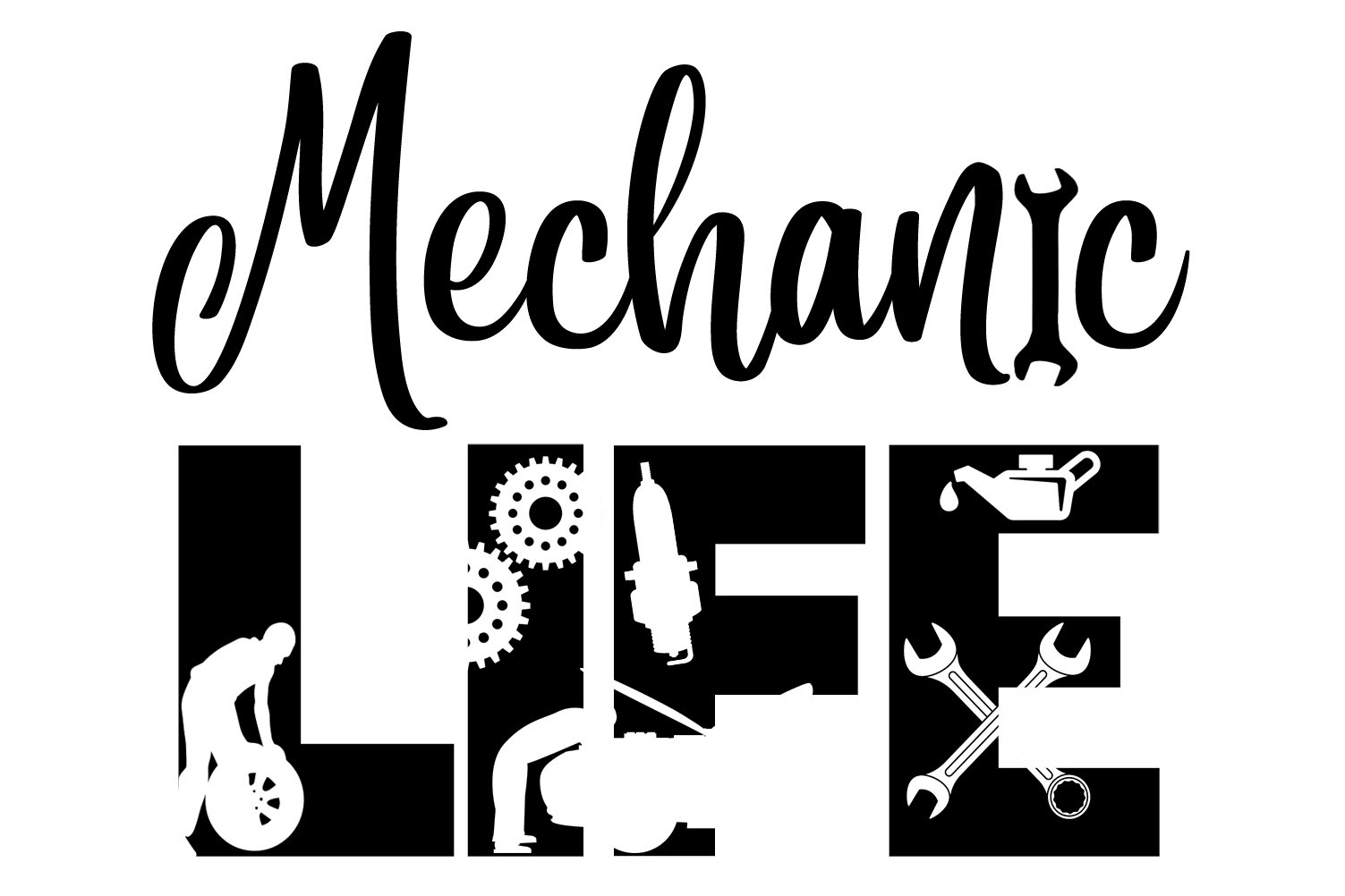 Mechanic Life SVG Cutting File for the Cricut (650219