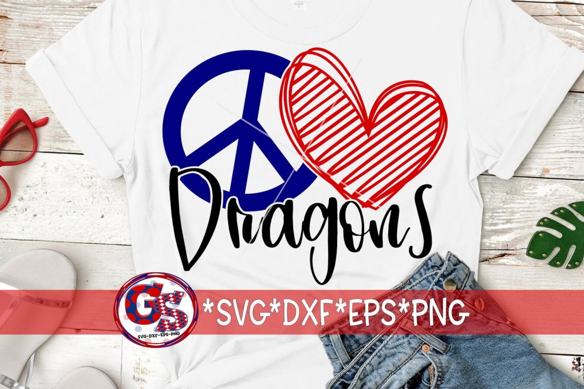 Download Peace Love Dragons SVG DXF EPS PNG (720508)   SVGs ...
