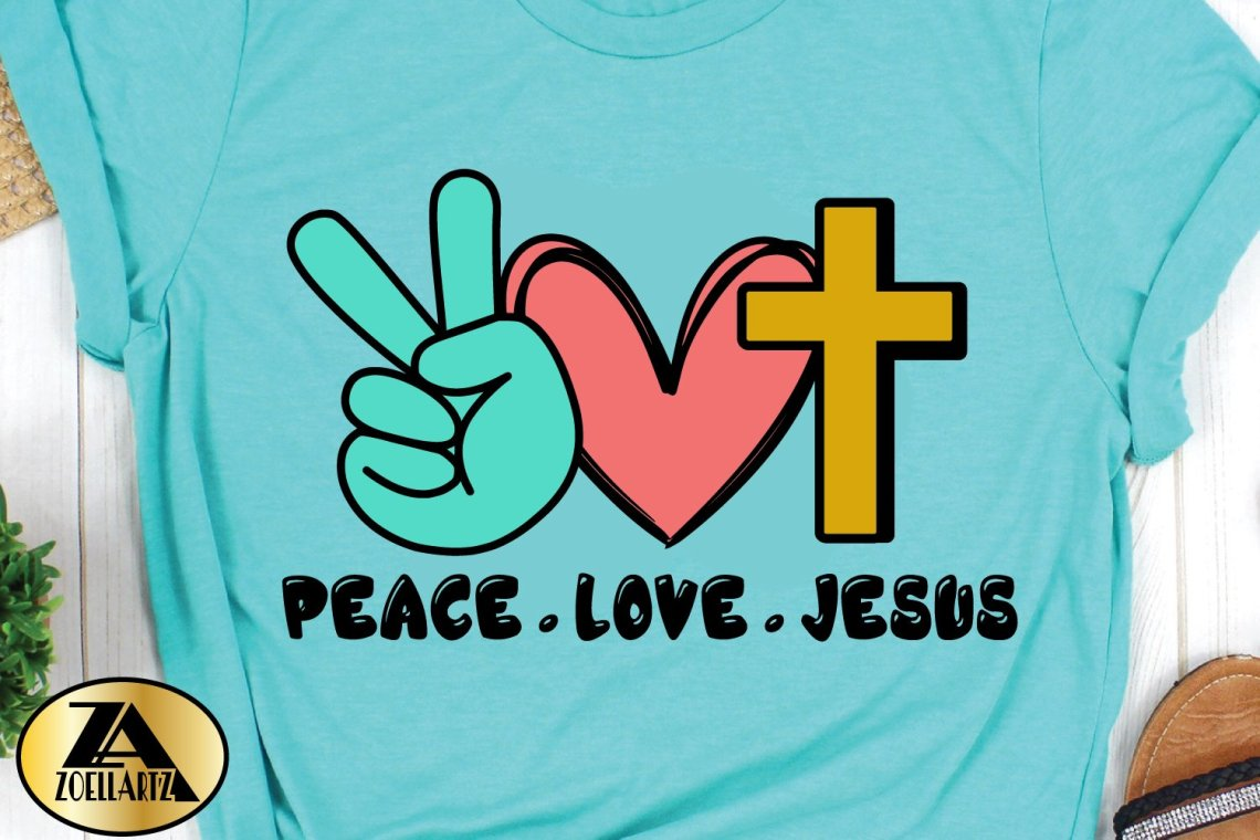 Download Peace Love Jesus SVG PNG EPS DXF Cutting and Printing File ...