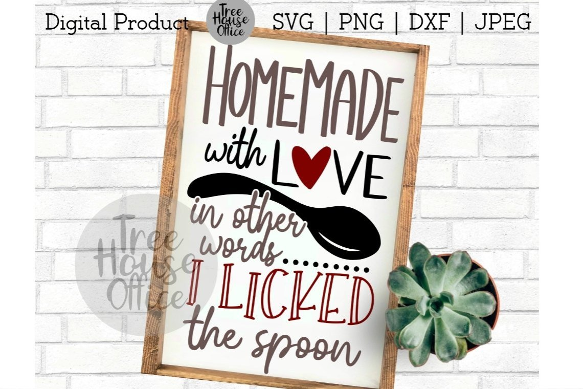 Download Homemade with Love, Licked the Spoon, Baking SVG PNG JPEG ...