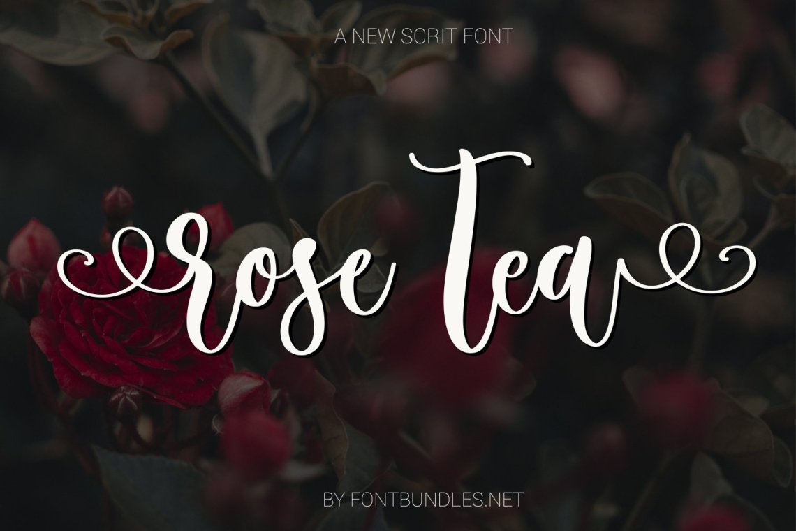 Download Rose Tea Script Font with swashes