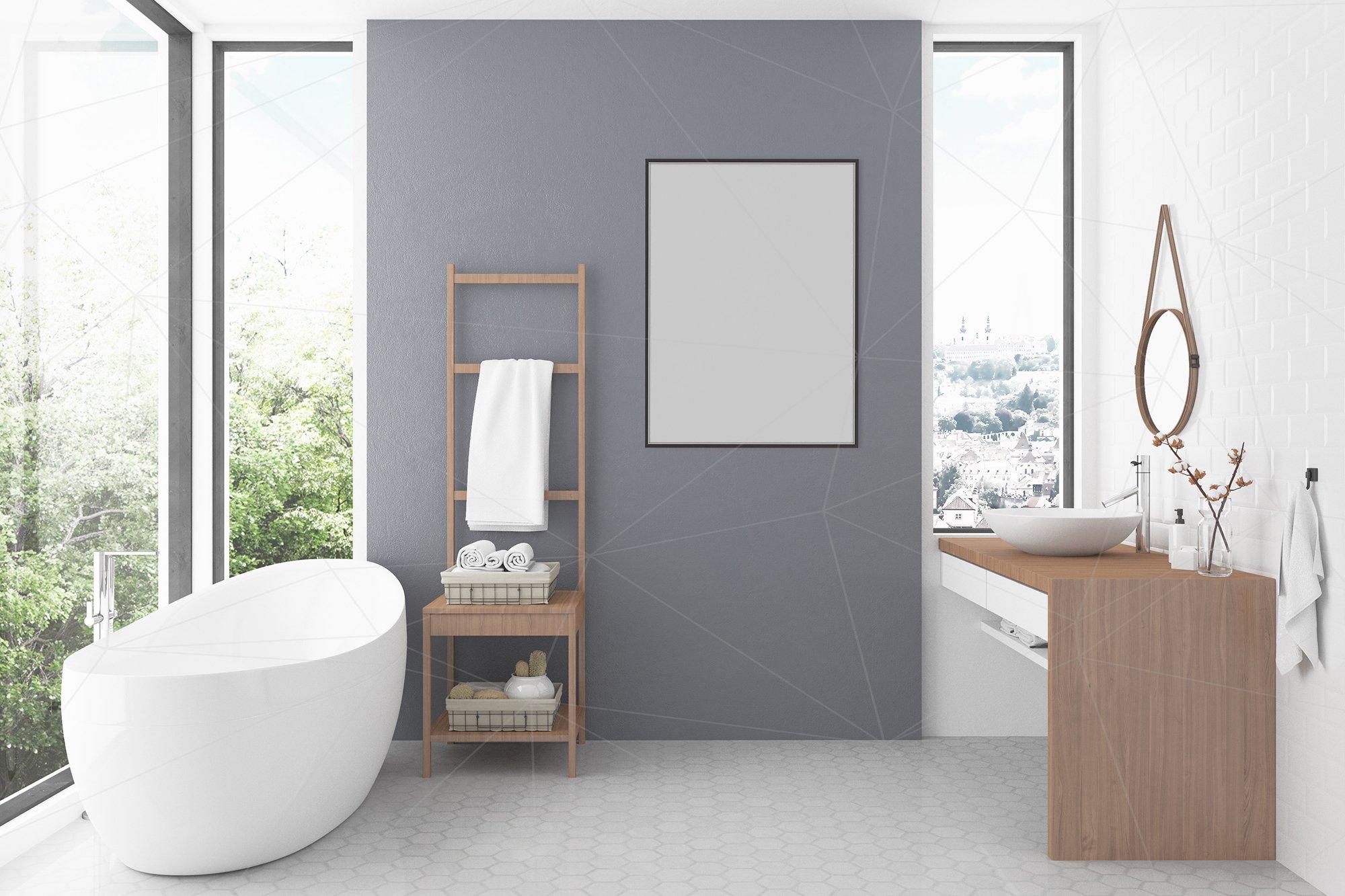 Interior Mockup Bundle Bathroom Background 104532 Mock Ups Design Bundles