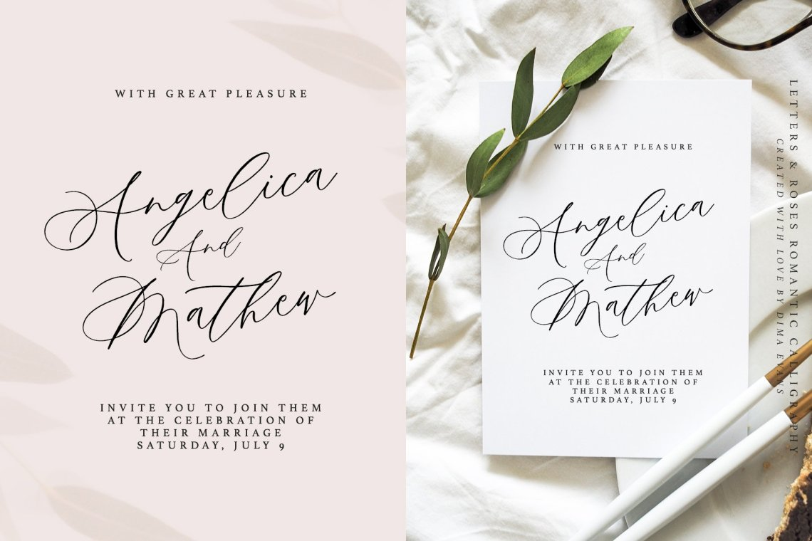 Download Letters & Roses / Luxury Script (729240) | Calligraphy ...