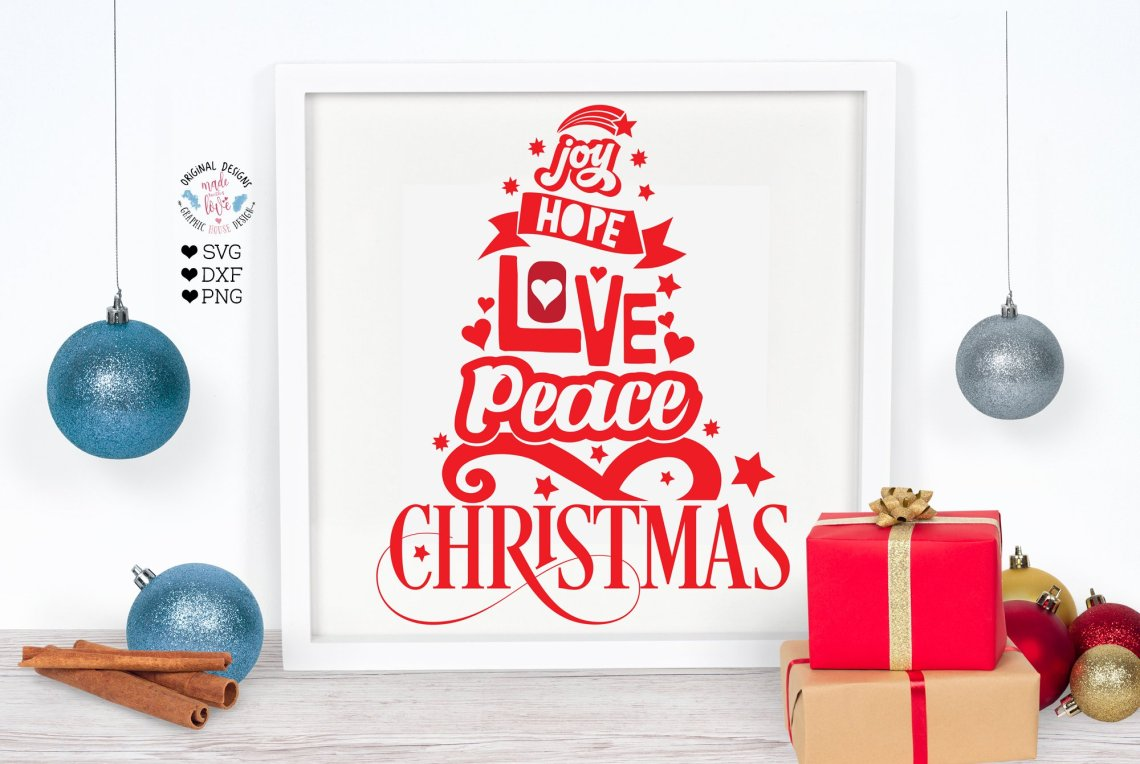 Download Joy Hope Love Peace Christmas Svg - Free Layered SVG Files