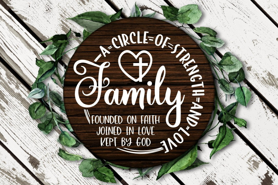 Download Family A Circle Of Strength And Love SVG DXF PNG (536195 ...