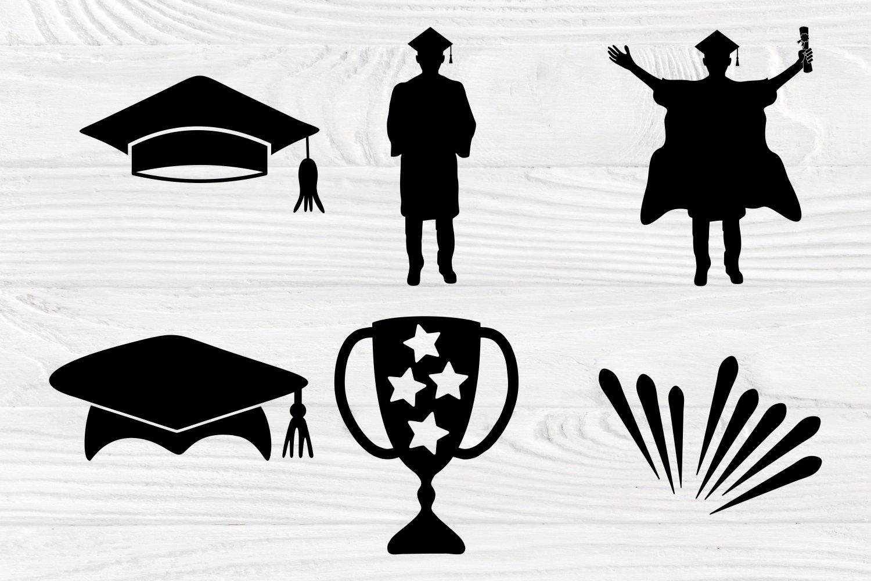 Graduation Cap Svg, Graduation Silhouette, Svg Cut Files