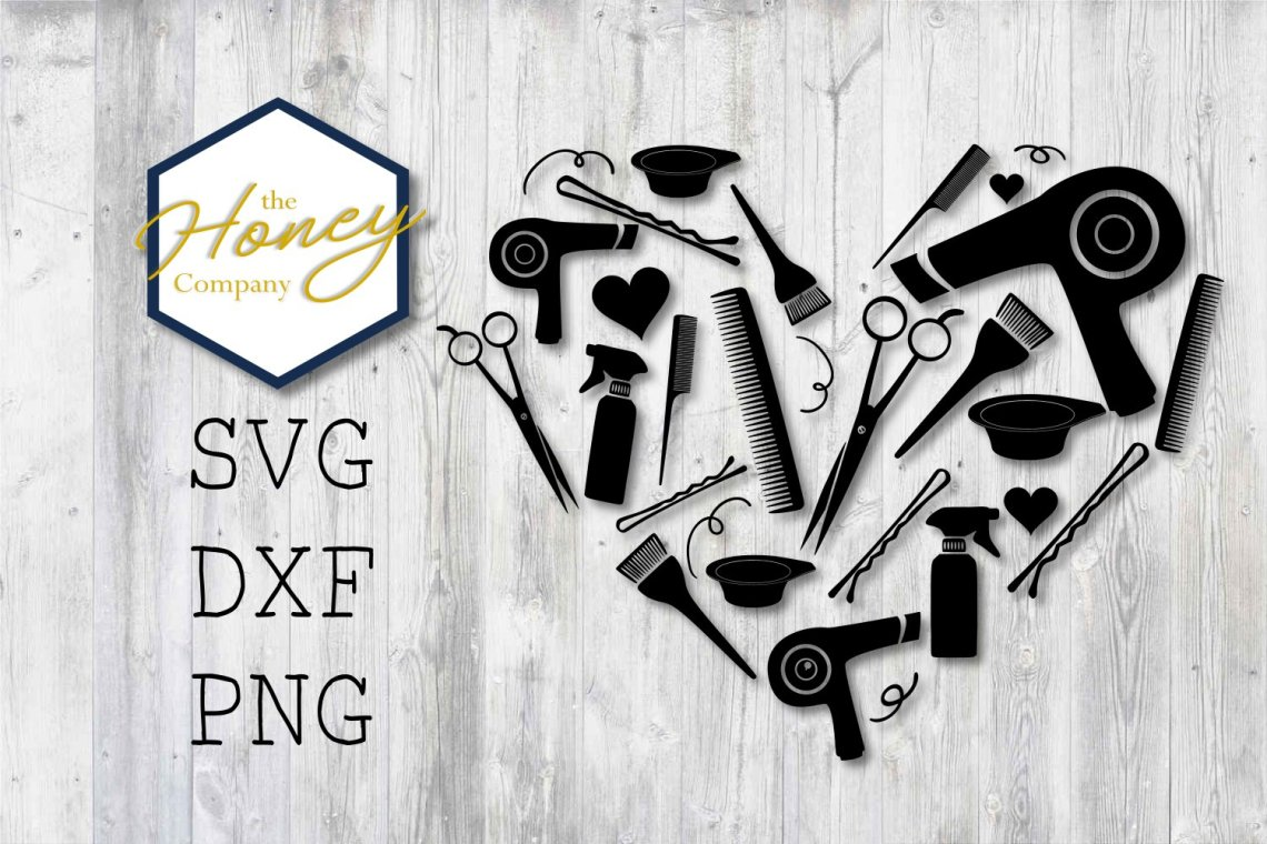 Download Hair Stylist SVG PNG DXF Shears Comb Color Heart Cut Files ...