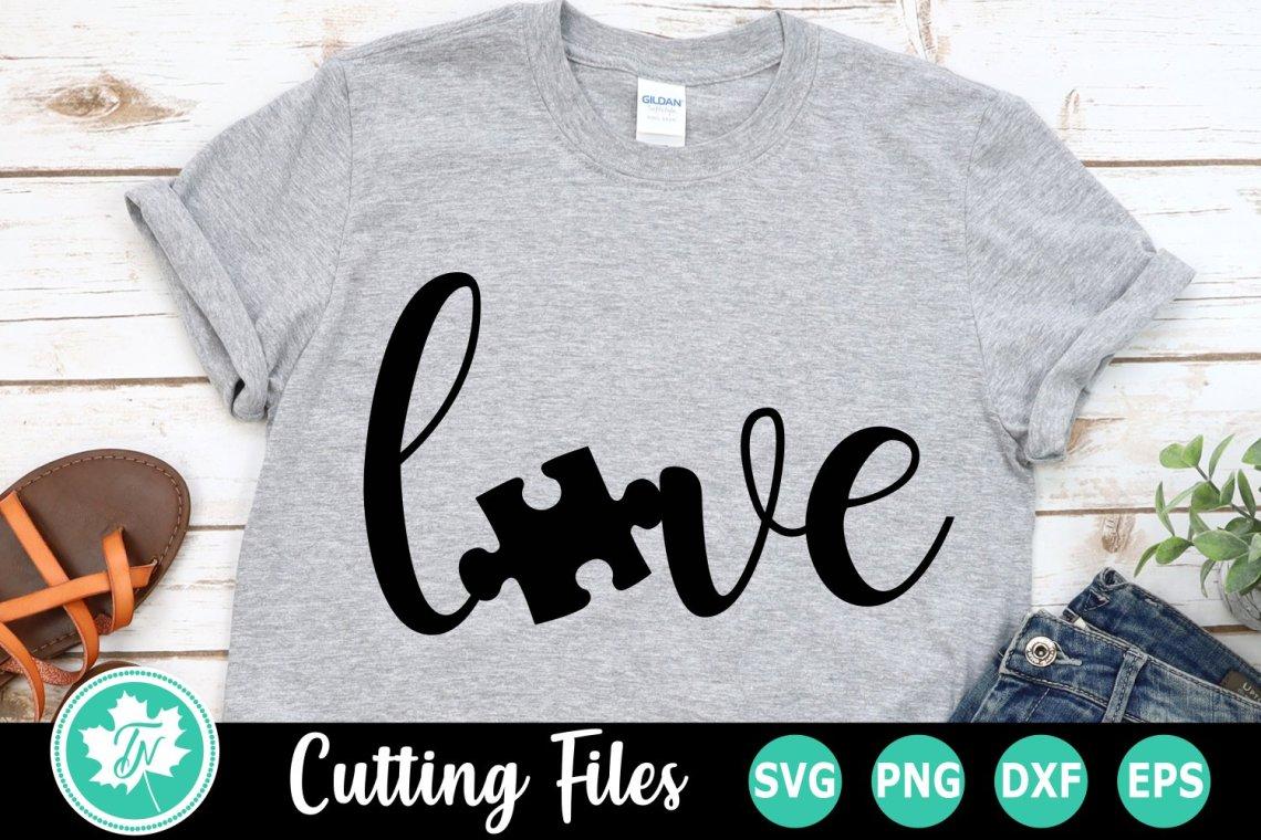 Download Love Puzzle Piece - An Autism Awareness SVG Cut File ...