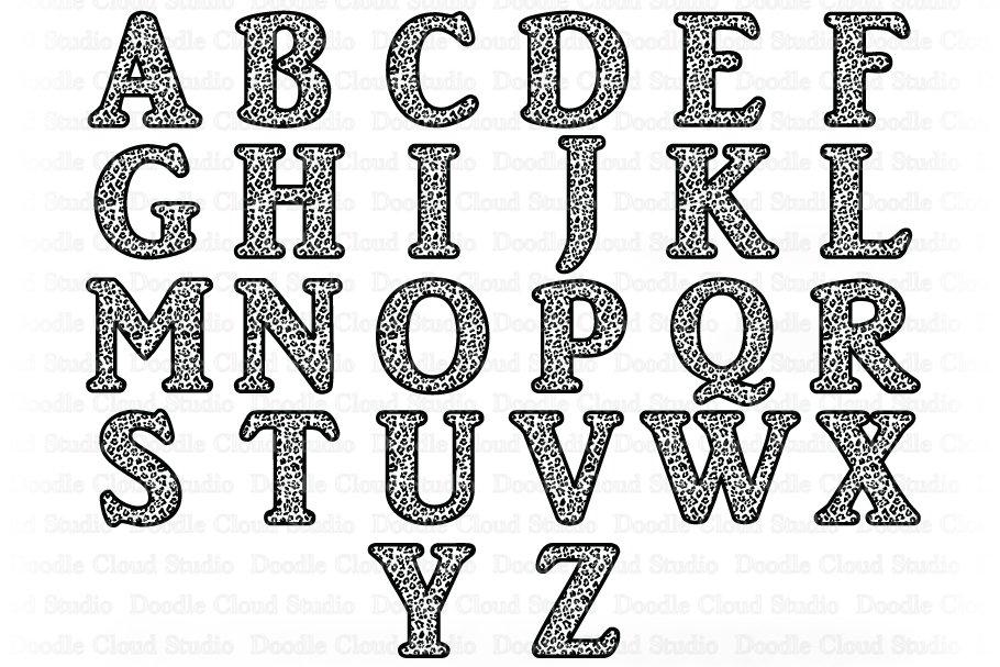 Leopard Alphabet SVG, Jaguar Letters SVG, Alphabet Clipart