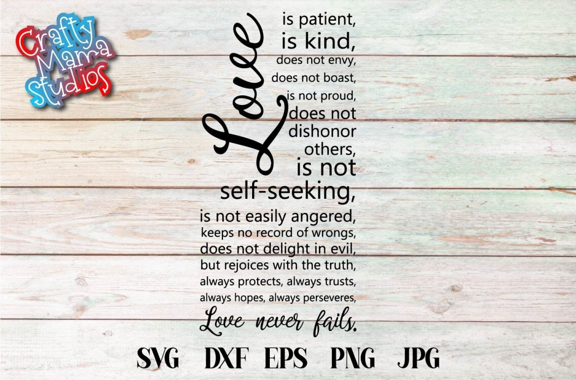 Download Love Is Patient SVG, Sublimation, Always And Forever Love ...