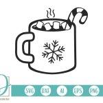 Christmas Hot Chocolate Hot Cocoa Mug Svg 384251 Cut Files Design Bundles