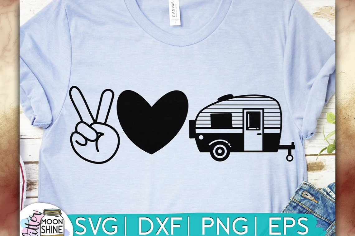 Download Peace Love Camping SVG DXF PNG EPS Cutting Files (275307 ...