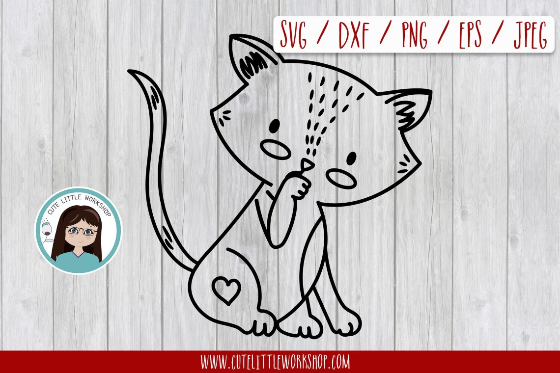 Download Love cat svg, dxf, png, eps (211404) | SVGs | Design Bundles