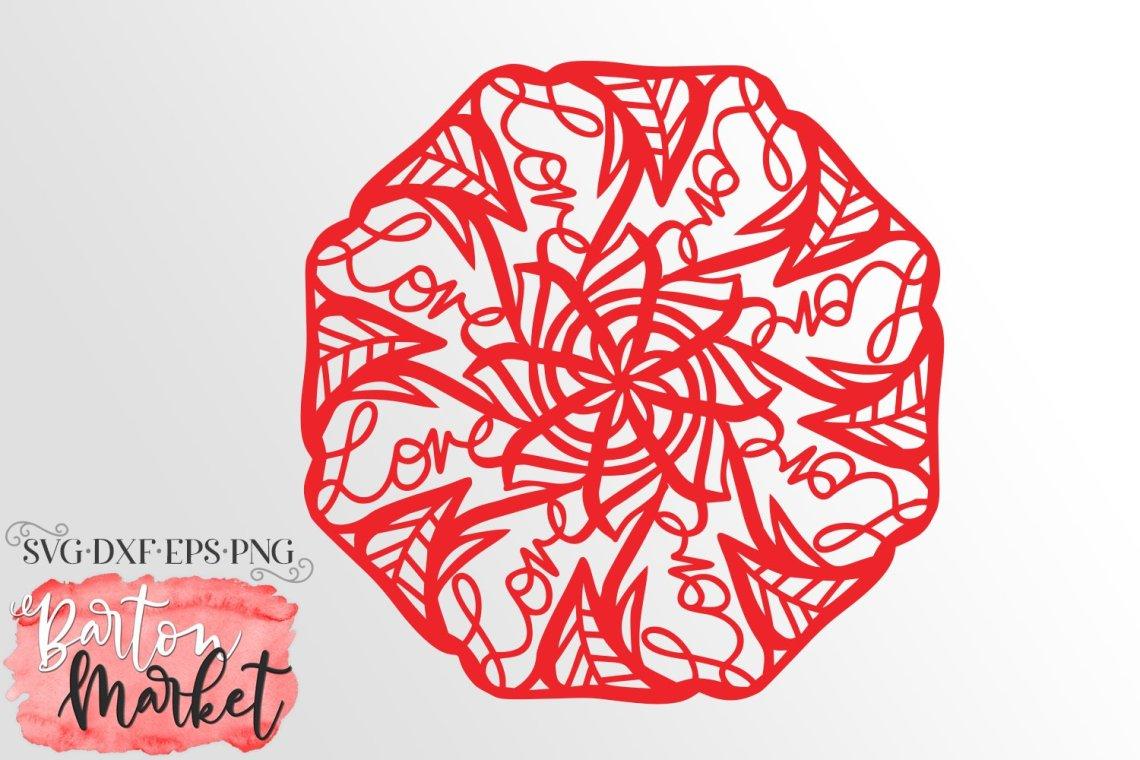 Download Handwritten Love Mandala SVG DXF EPS PNG (543569) | Cut ...