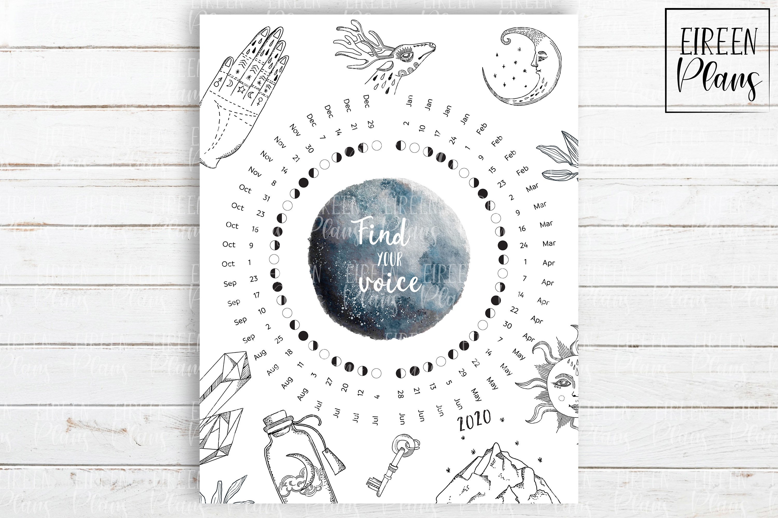 Printable Moon Phases Calendar