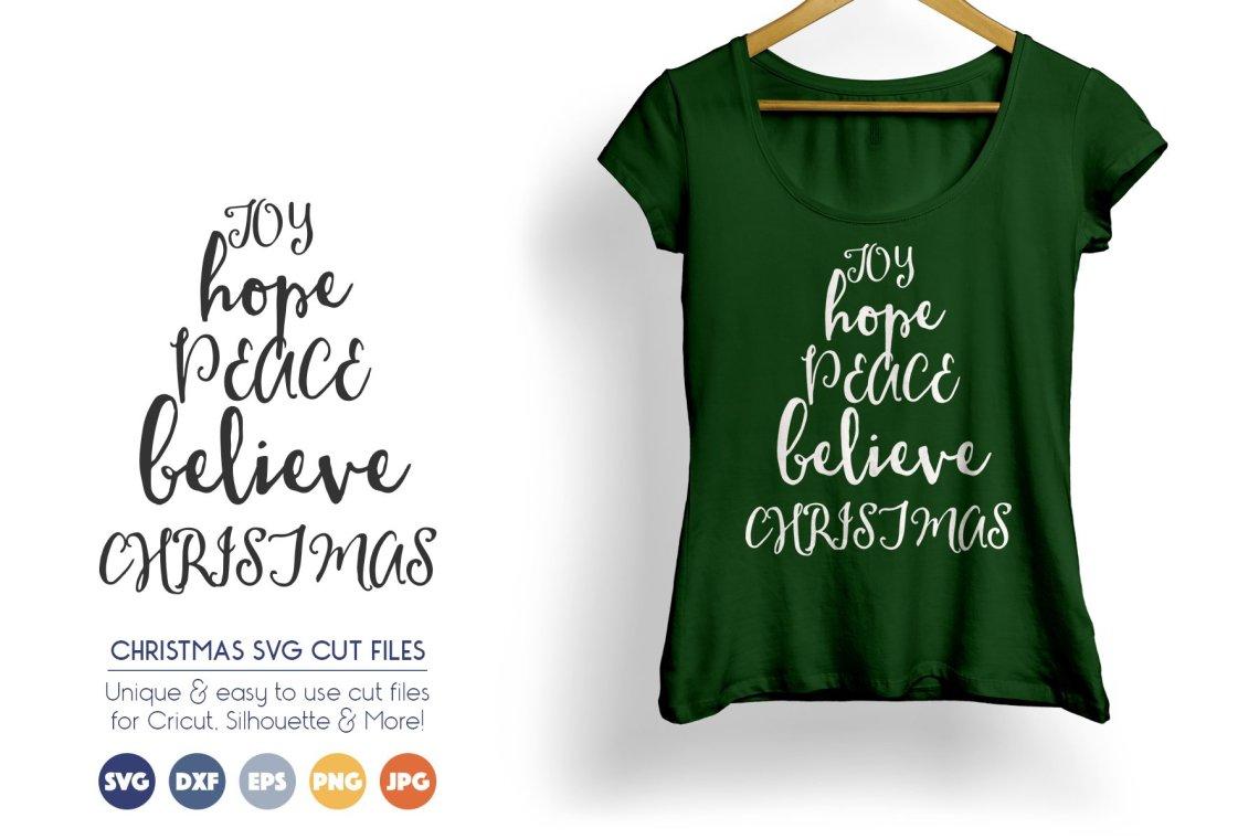 Download Joy, Hope, Peace, Believe - Christmas SVG Cut Files