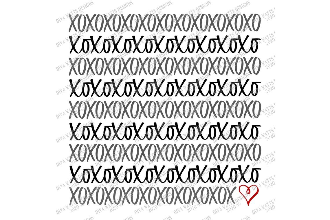 Download XOXO - Heart - Valentine's Day - Love - Hugs Kisses - SVG ...