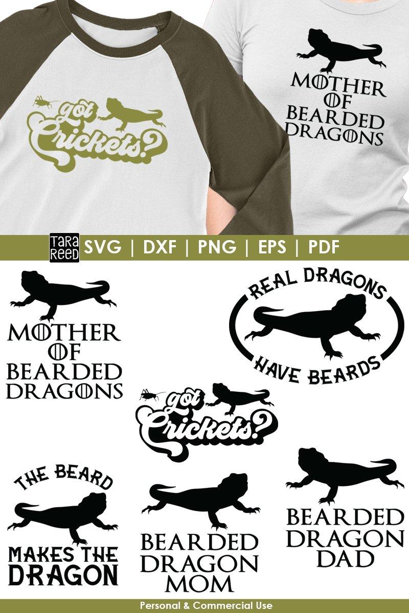 Bearded Dragon Svg Free : bearded, dragon, Bearded, Dragon, Files, Crafters, (255744), Design, Bundles