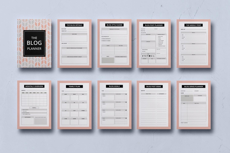 Blog Post Planner Kit Blogger Planner Worksheet Template