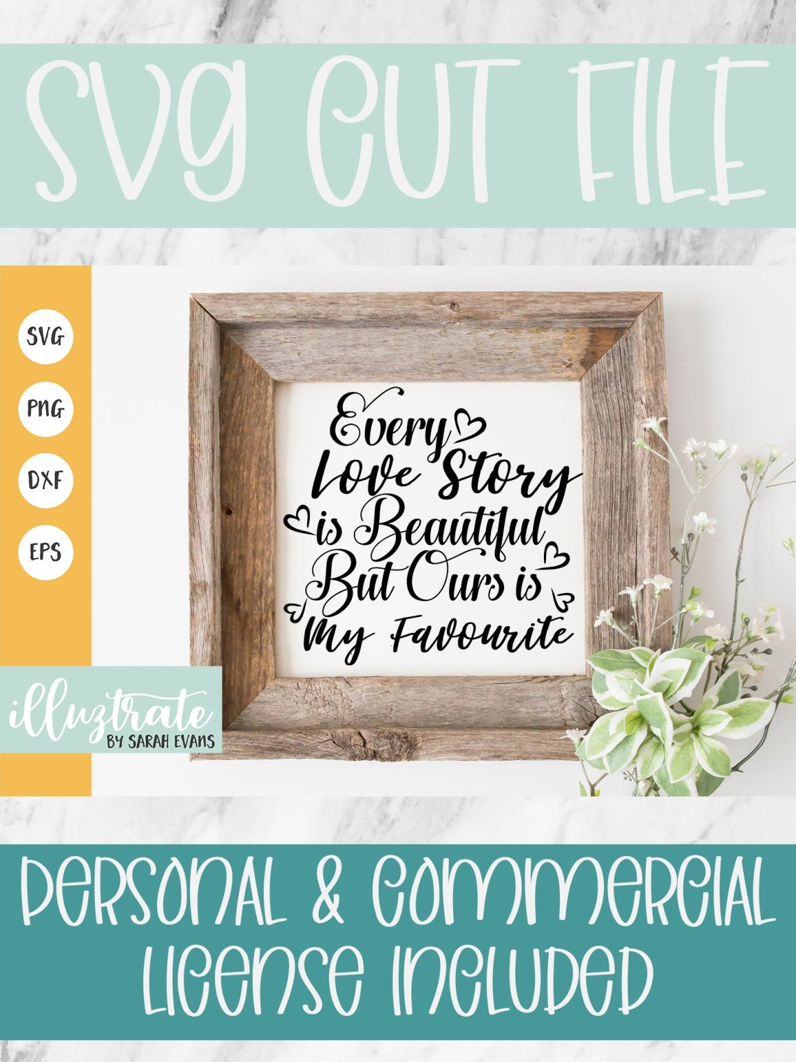 Download Every Love Story is beautiful SVG Cut File | Love SVG ...