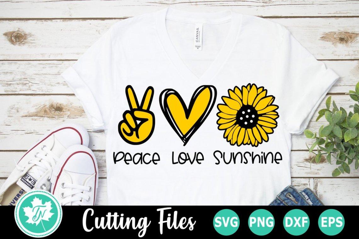 Download Peace Love Sunshine - A Summer SVG Cut File (557587) | Cut ...