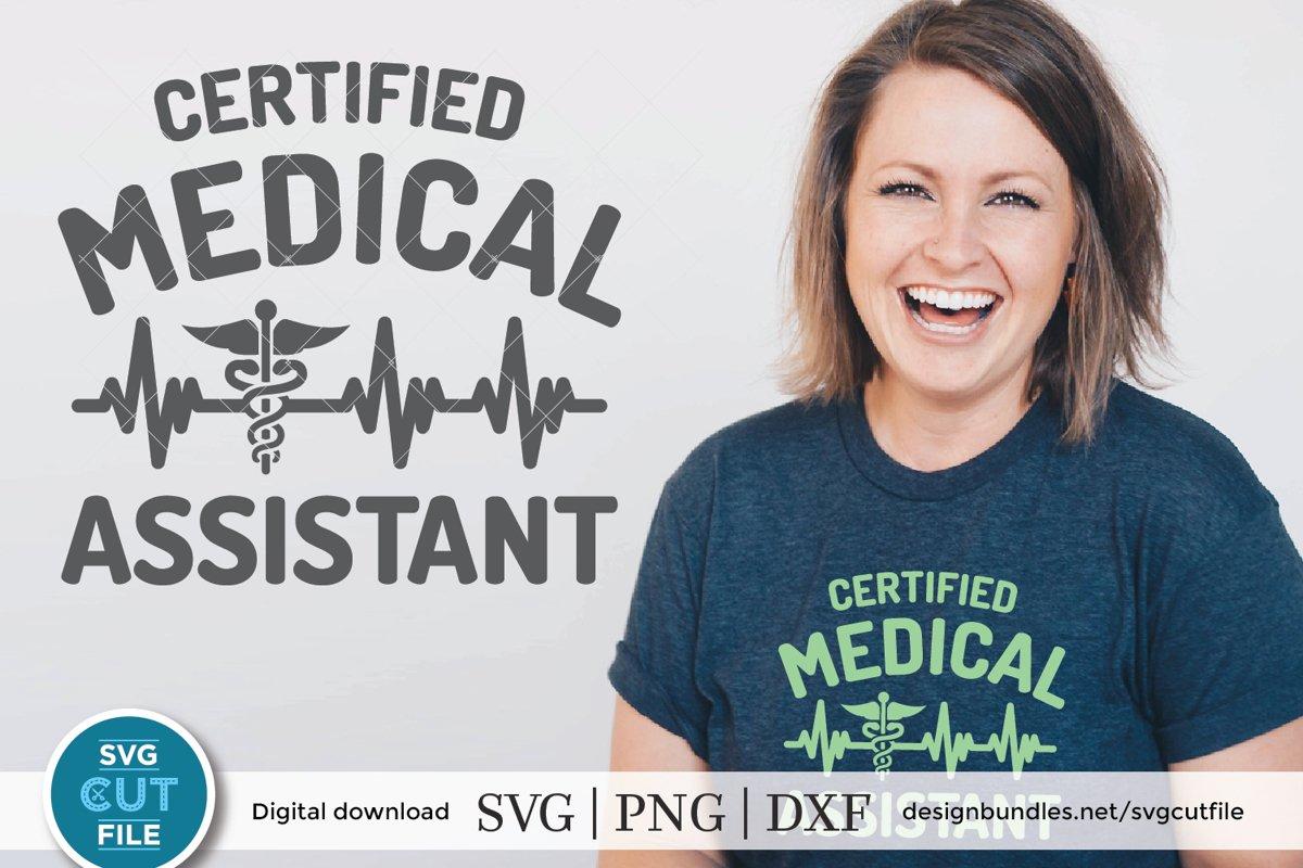 Certified Medical Assistant Svg