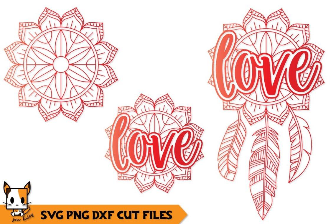 Download Love SVG File - Dreamcatcher Mandala (568657)   Cut Files ...